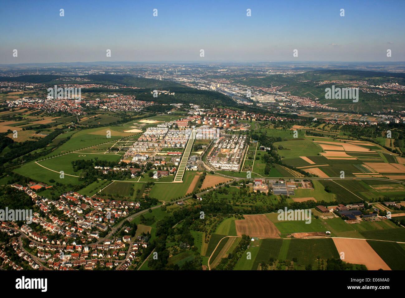 aerial photo of stuttgart - germany Stock Photo