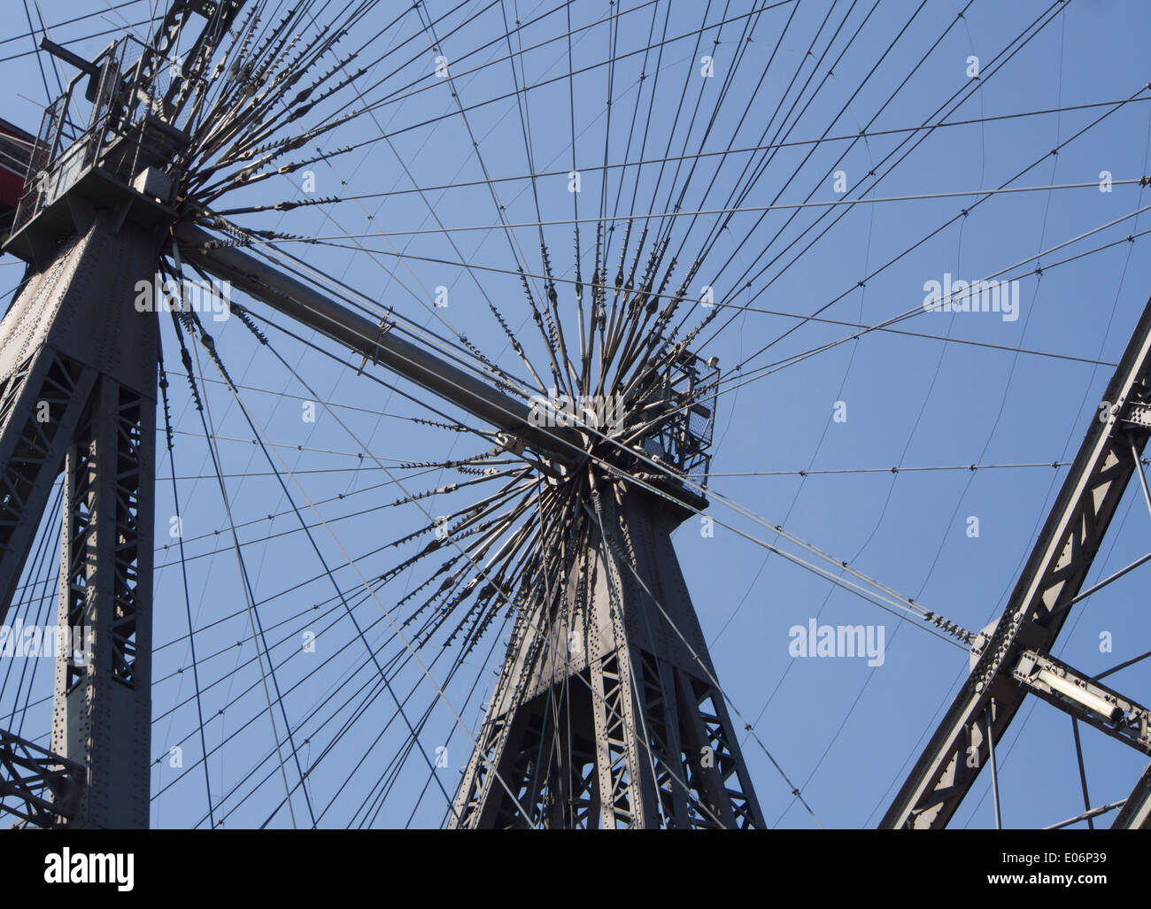 Wiener Riesenrad, ferris wheel in the Prater amusement park, constructed in 1897 about 65 meters high, Vienna Austria - Stock Image