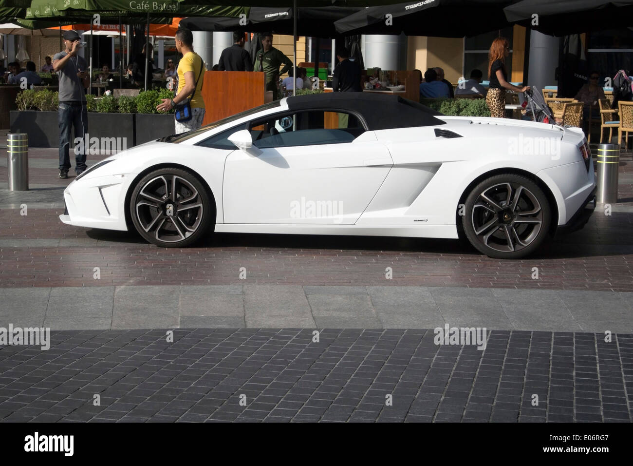 Brilliant White Lamborghini Gallardo LP560   4 Spyder   Stock Image