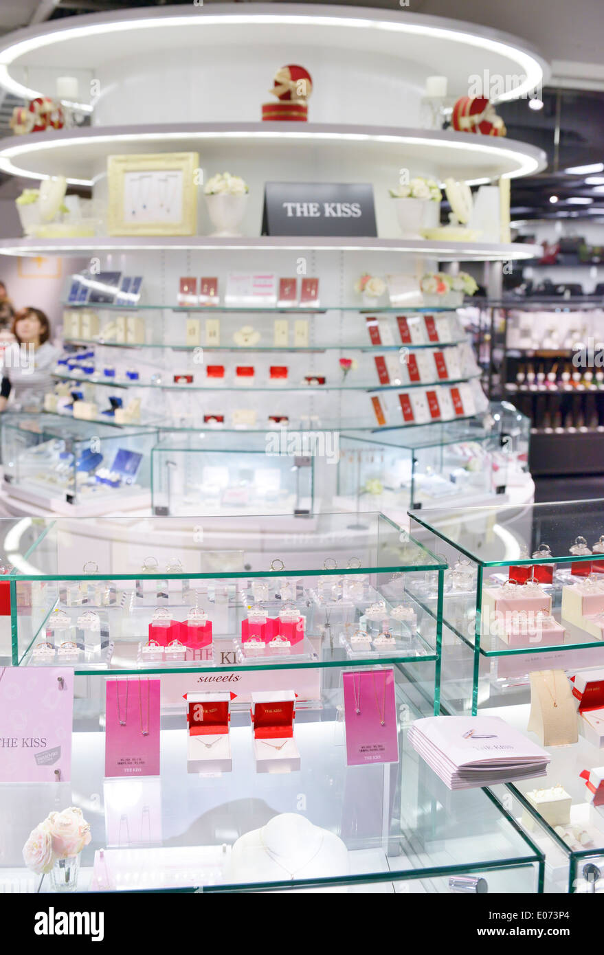 The Kiss Jewelry display in the Loft store in Tokyo, Japan - Stock Image