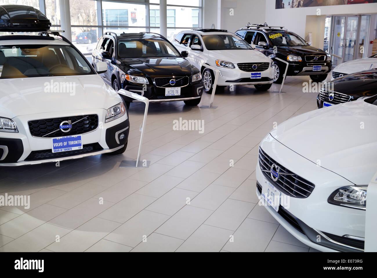 Car Dealers Toronto >> Volvo Cars Inside A Dealership Toronto Canada Stock Photo