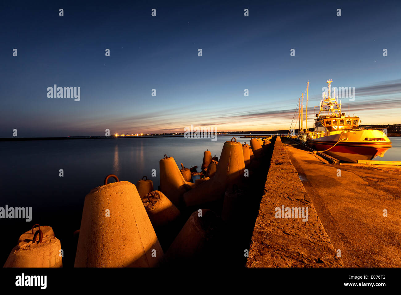 Dawn at Old City Marina harbor in Tallinn, Estonia, EU - Stock Image