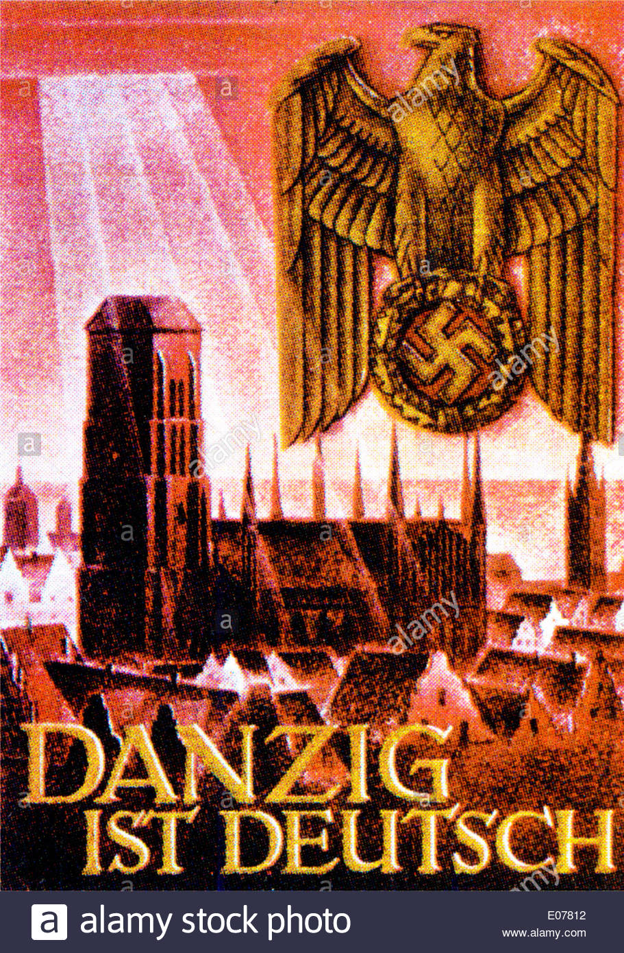 'Danzig is ours' German Wartime Poster - Stock Image