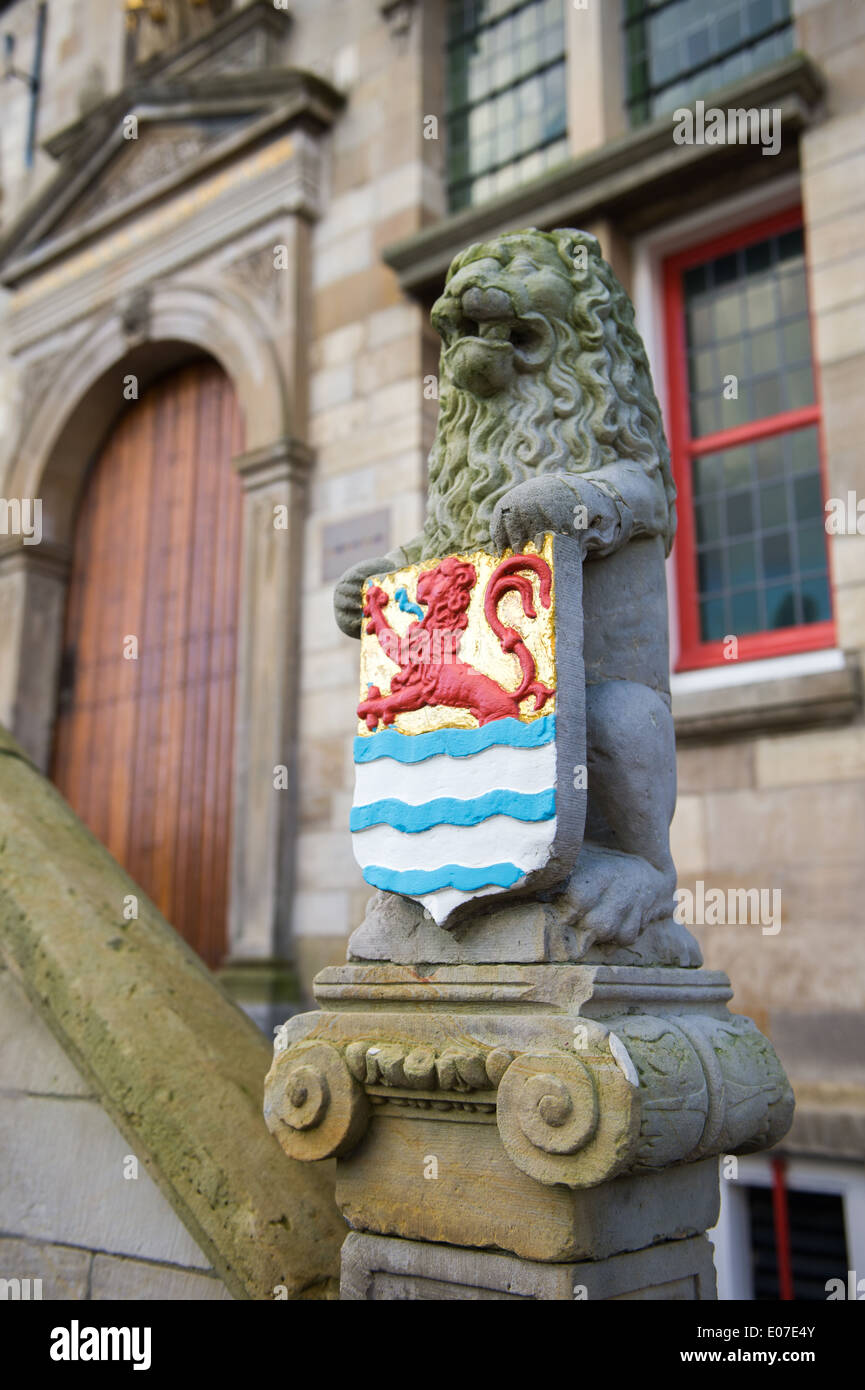 Dutch province Zealand with board of arms - Stock Image