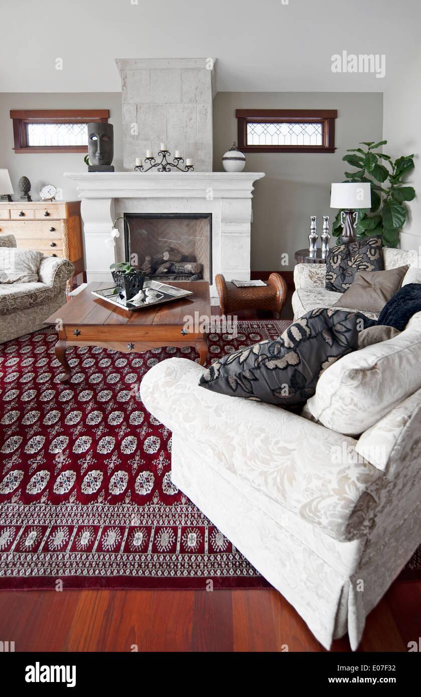 Contemporary living room interior - Stock Image