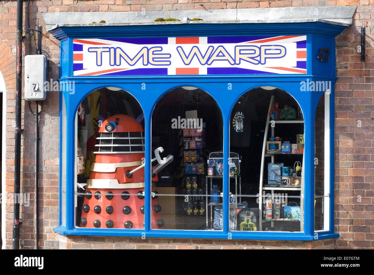 The Time Warp Shop window Stratford upon Avon England - Stock Image