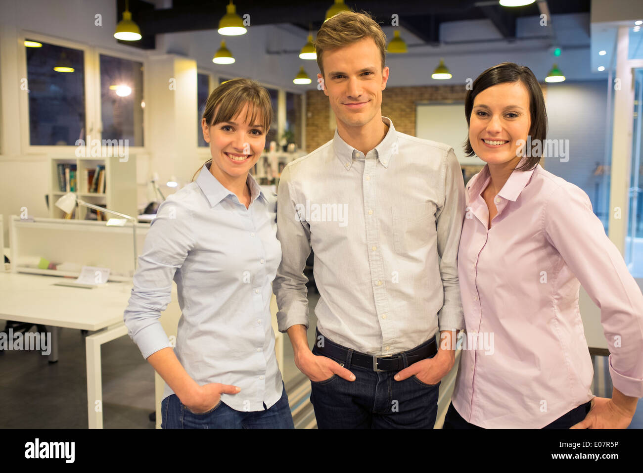 Women man business team office - Stock Image