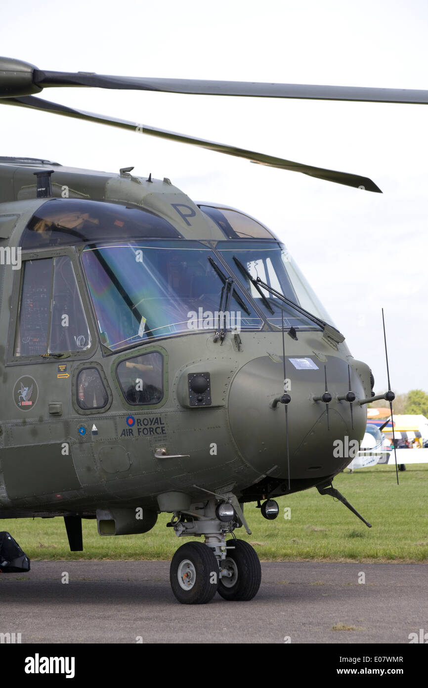 AW101 EH101 Merlin Cormorant Medium lift helicopter 78 Squadron  RAF Benson - Stock Image