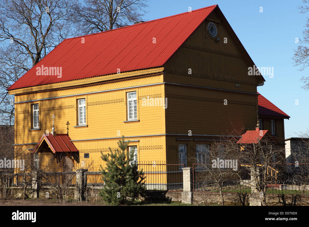 The Old Believer meeting house at Raja, Estonia. - Stock Image