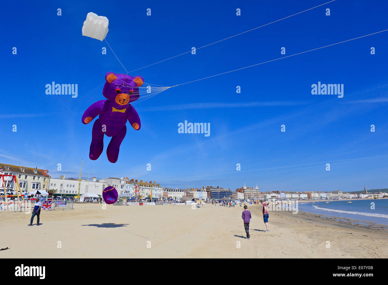 Weymouth, Dorset, UK, 03 May 2014: The opening day of Weymouth Kite Festival.Weymouth, Dorset,UK - Stock Image
