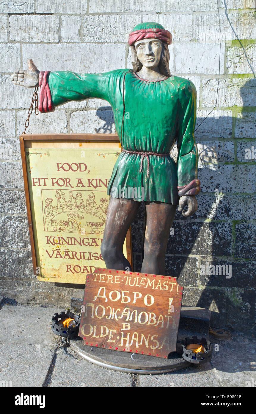 Tallinn Old Hansa street sign - Stock Image