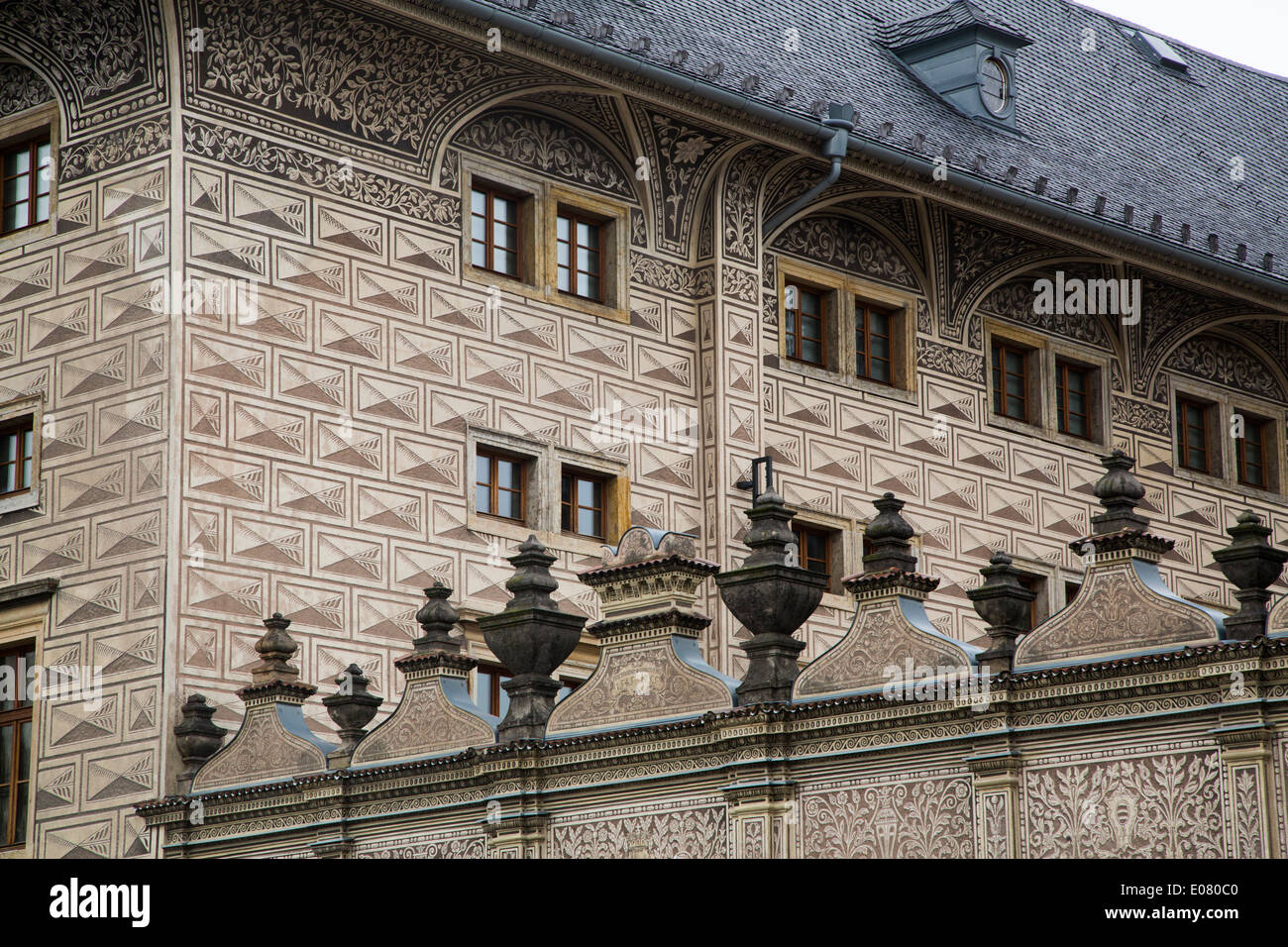 Schwartezenburg Palace - Prague, Czech Republic - Stock Image