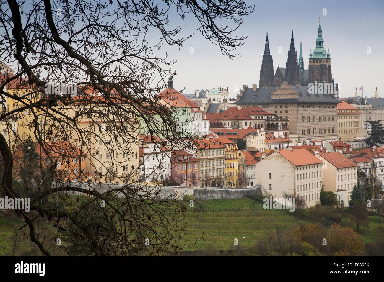 Castle Hill - Prague, Czech Republic - Stock Image