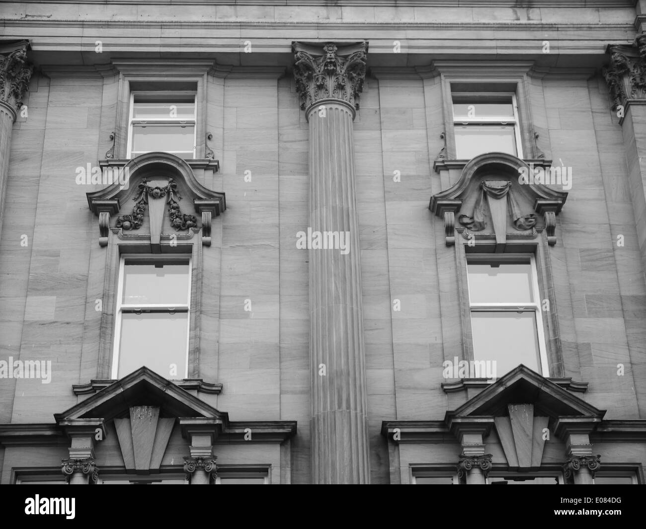 Architectural detail of an historic building in Newcastle upon Tyne, England, UK - Stock Image