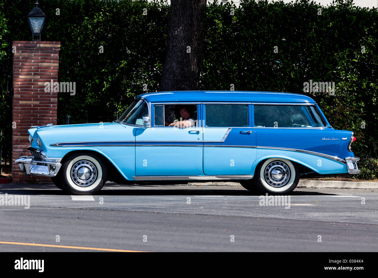A 1956 Chevy Station Wagon Stock Photo, Royalty Free Image ...