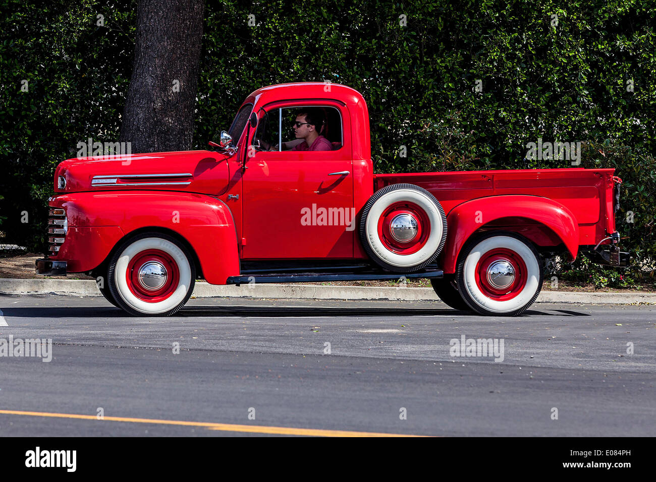 Exhaust Smoke Truck Stock Photos Images 1948 Ford Cast S A 1949 Or 1950 Image