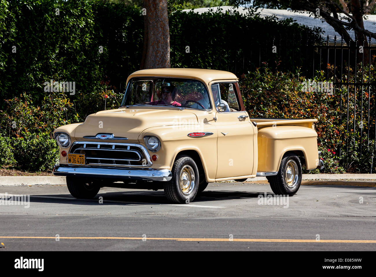 a 1957 chevy truck stepside stock photo 69021733 alamy