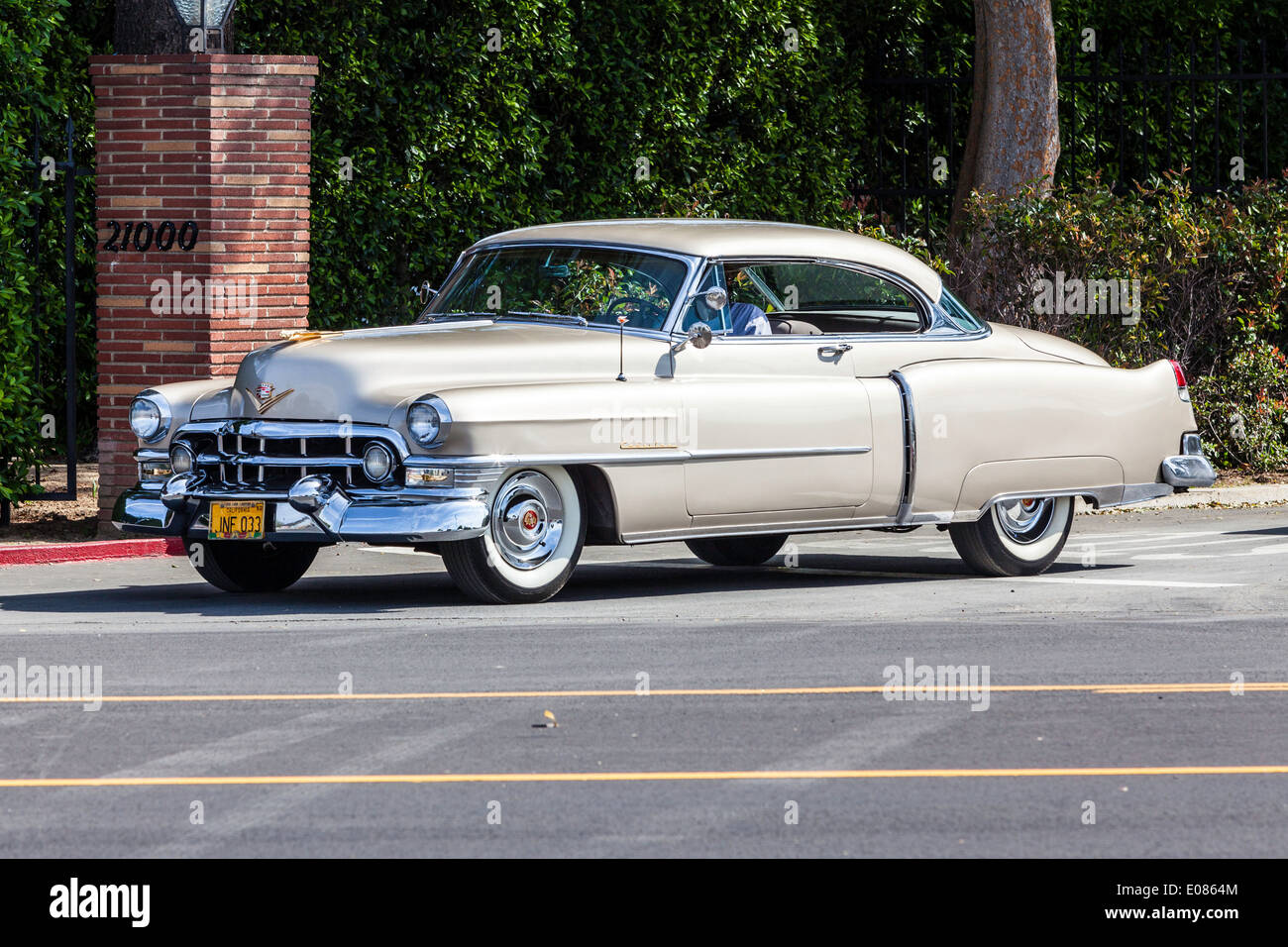 A 1953 Cadillac 2 door Coupe - Stock Image