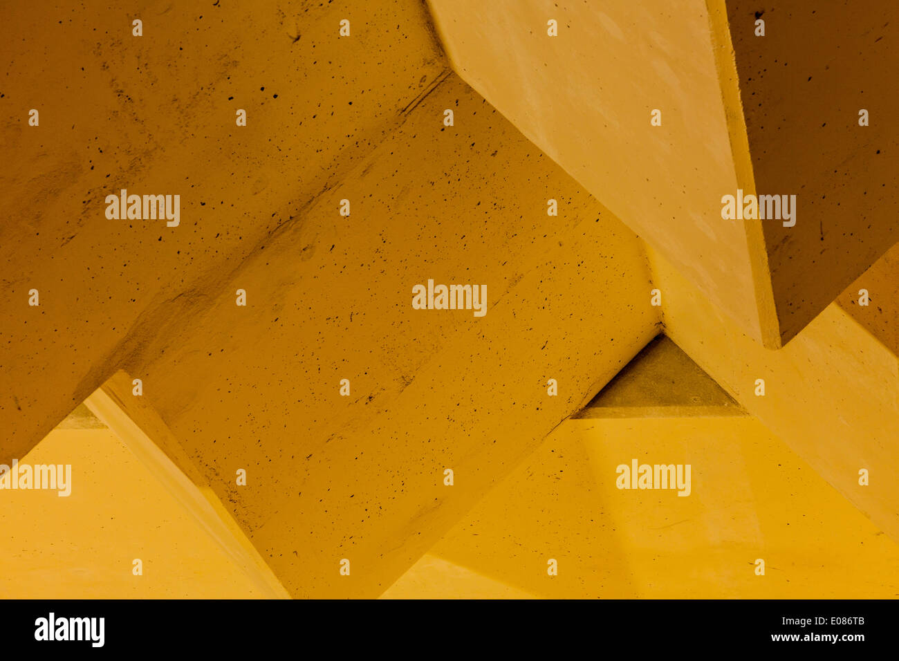 Concrete blocks used for radiation shielding at a particle accelerator facility - Stock Image
