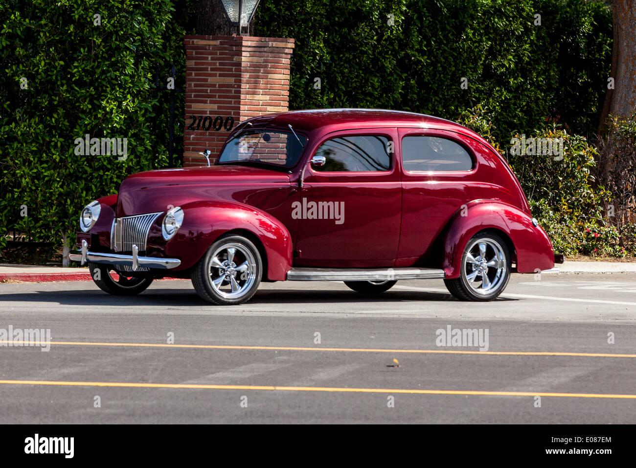 1940 Ford Coupe Stock Photos Images Alamy 1941 Red Sedan Image