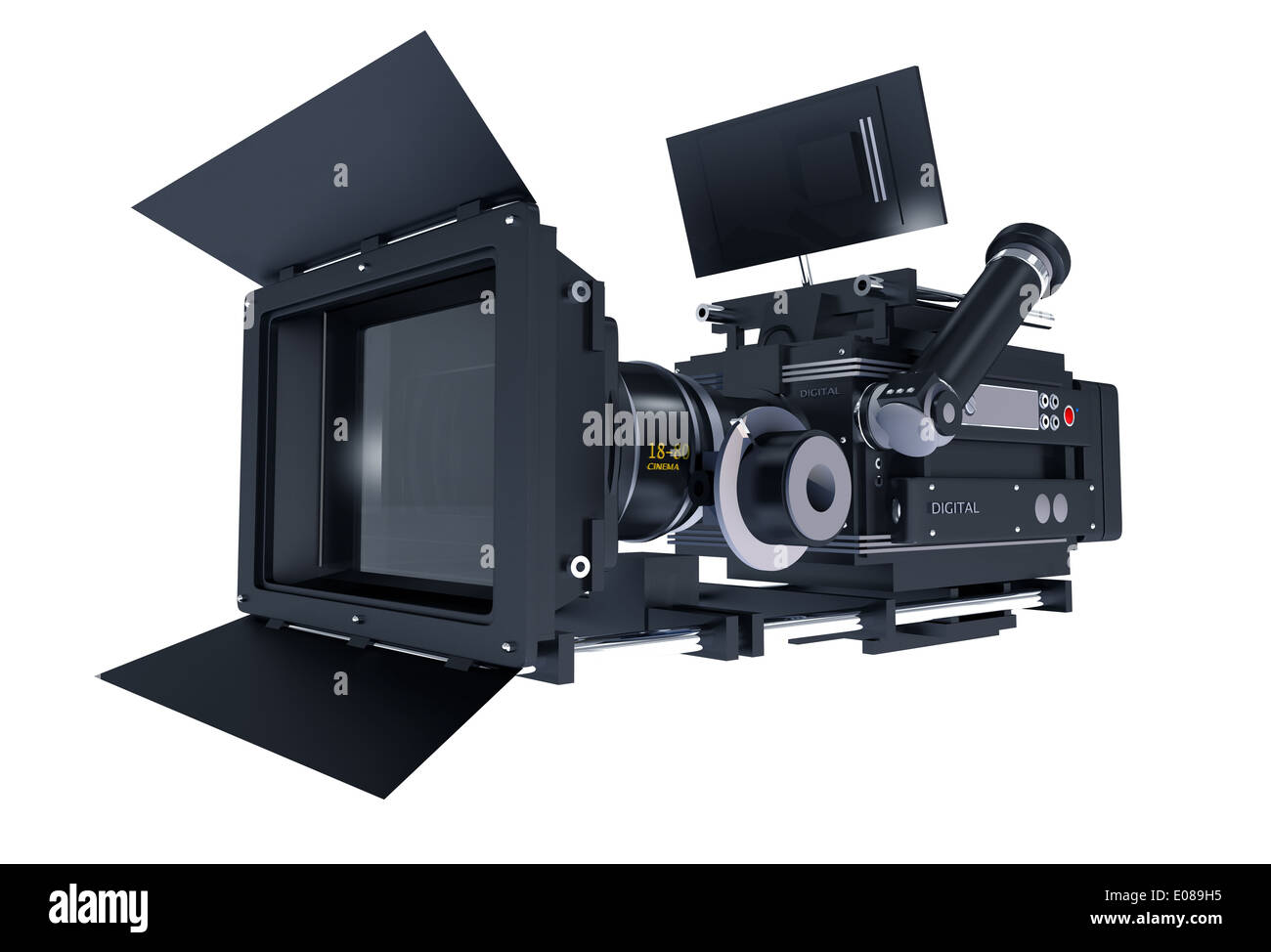 Motion Picture Camera Isolated on White Background  3D