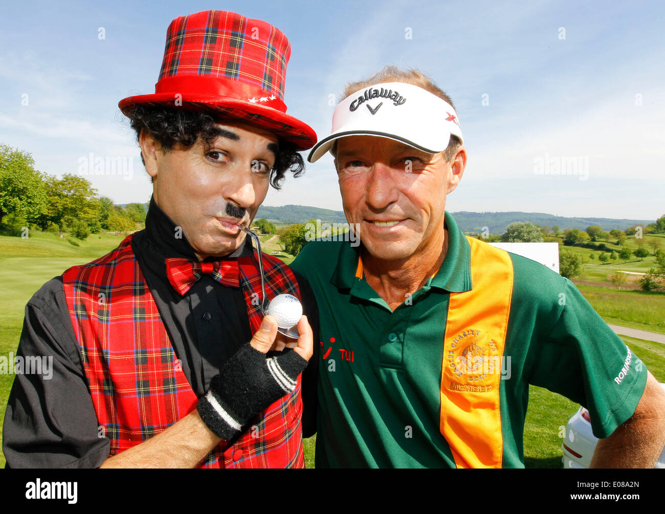 Herbolzheim, Germany - May 5, 2014: Eagles Charity Golf Cup and Gala at Golfclub Breisgau and Europa Park, Rust with Actor Michael Lesch and Charly Credit:  Mandoga Media/Alamy Live News - Stock Image