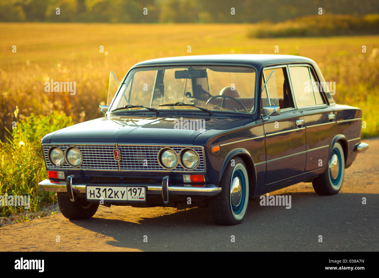 Old Soviet car Lada VAZ-2103-2106