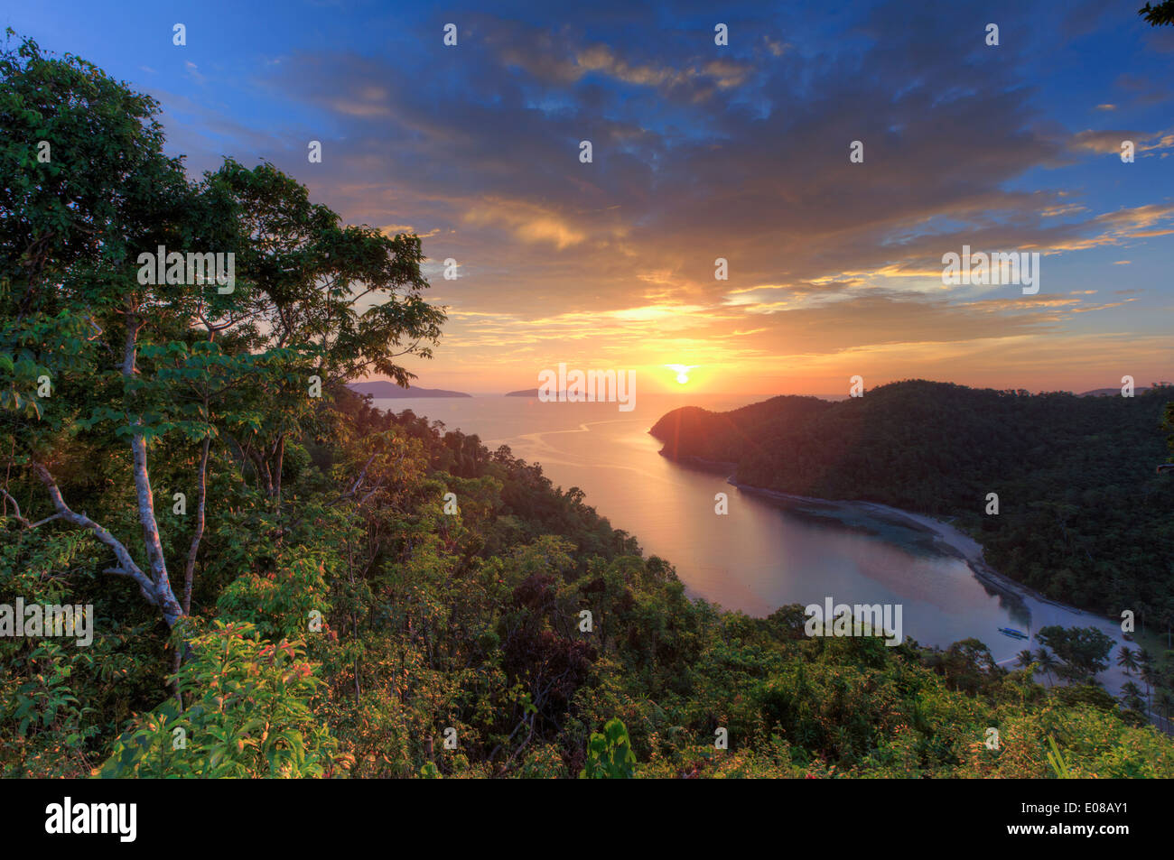Philippines, Palawan, Port Barton, Turtle Bay - Stock Image