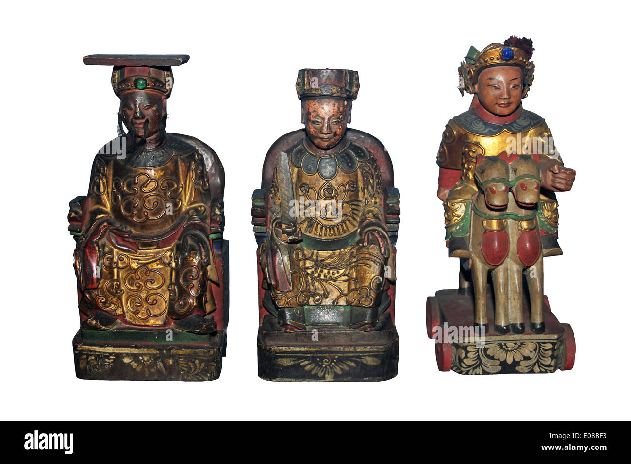 Chinese Figures Of The Jade Emperor, A Deity and The Queen Of Heaven Stock Photo