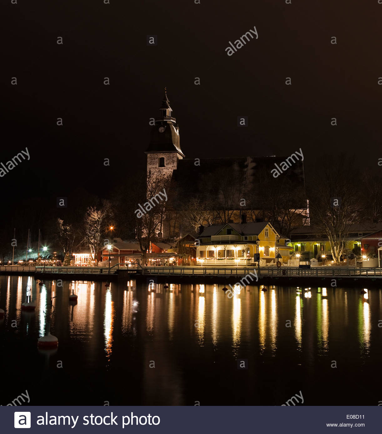 Beautiful view in Naantali Finland - Stock Image