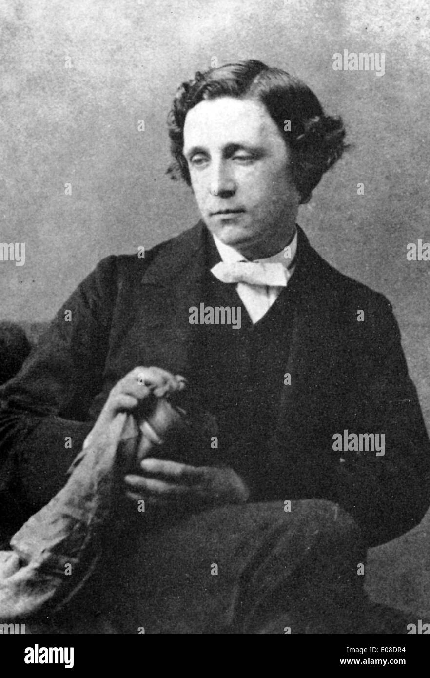 Lewis Carroll, English writer, Charles Lutwidge Dodgson, author of Alice in Wonderland - Stock Image