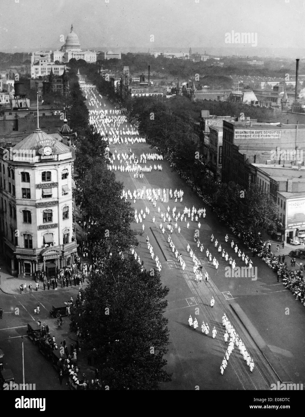 Ku Klux Klan parade, United States of America - Stock Image