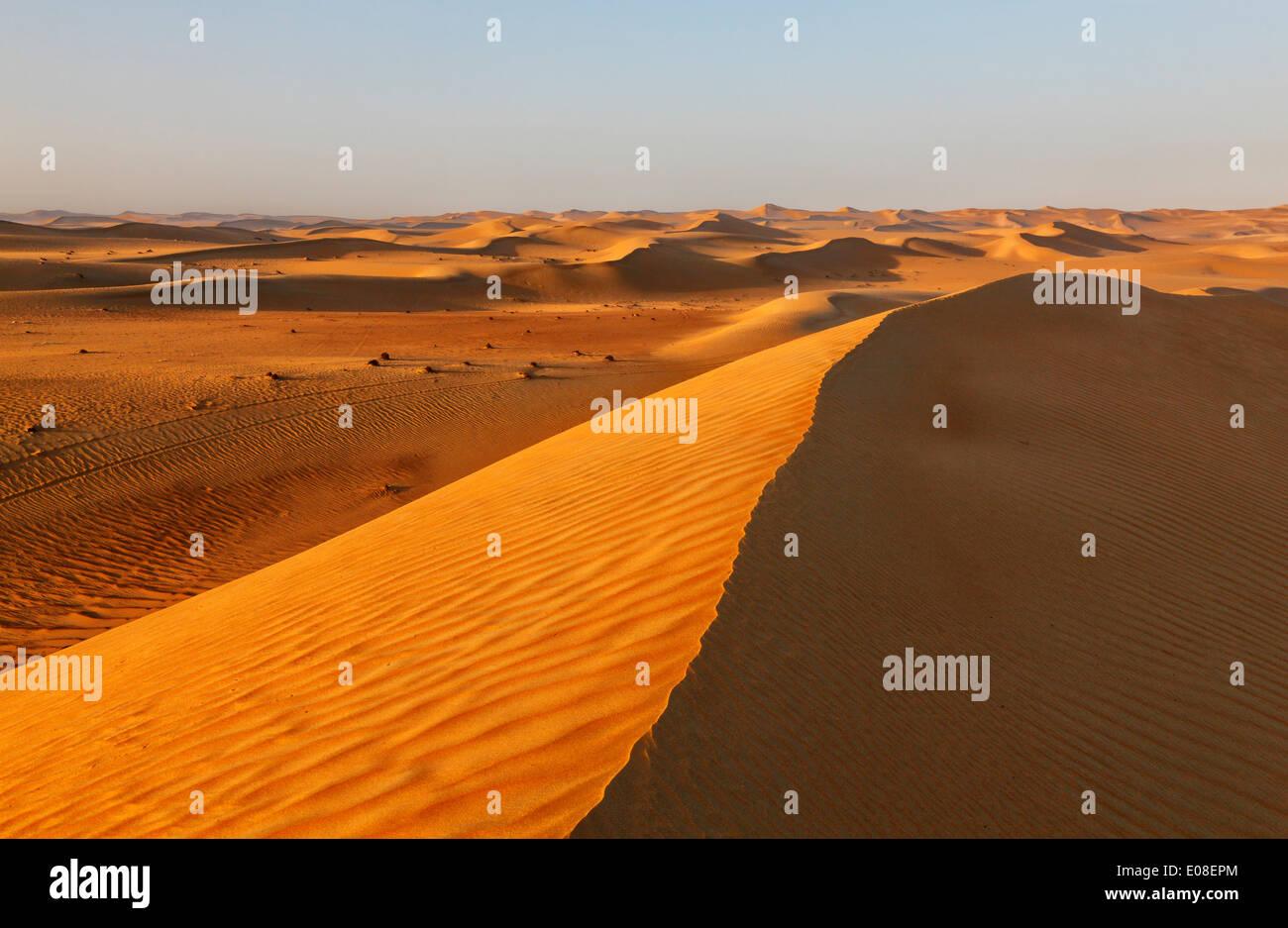 Sand dune landscape in Arabian desert. Stock Photo