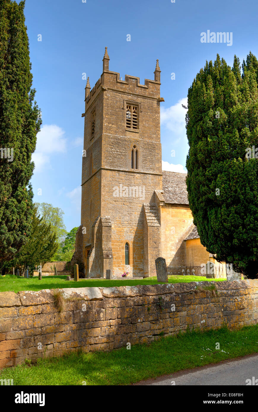 St Peter church, Stanway, Gloucestershire, England. Stock Photo