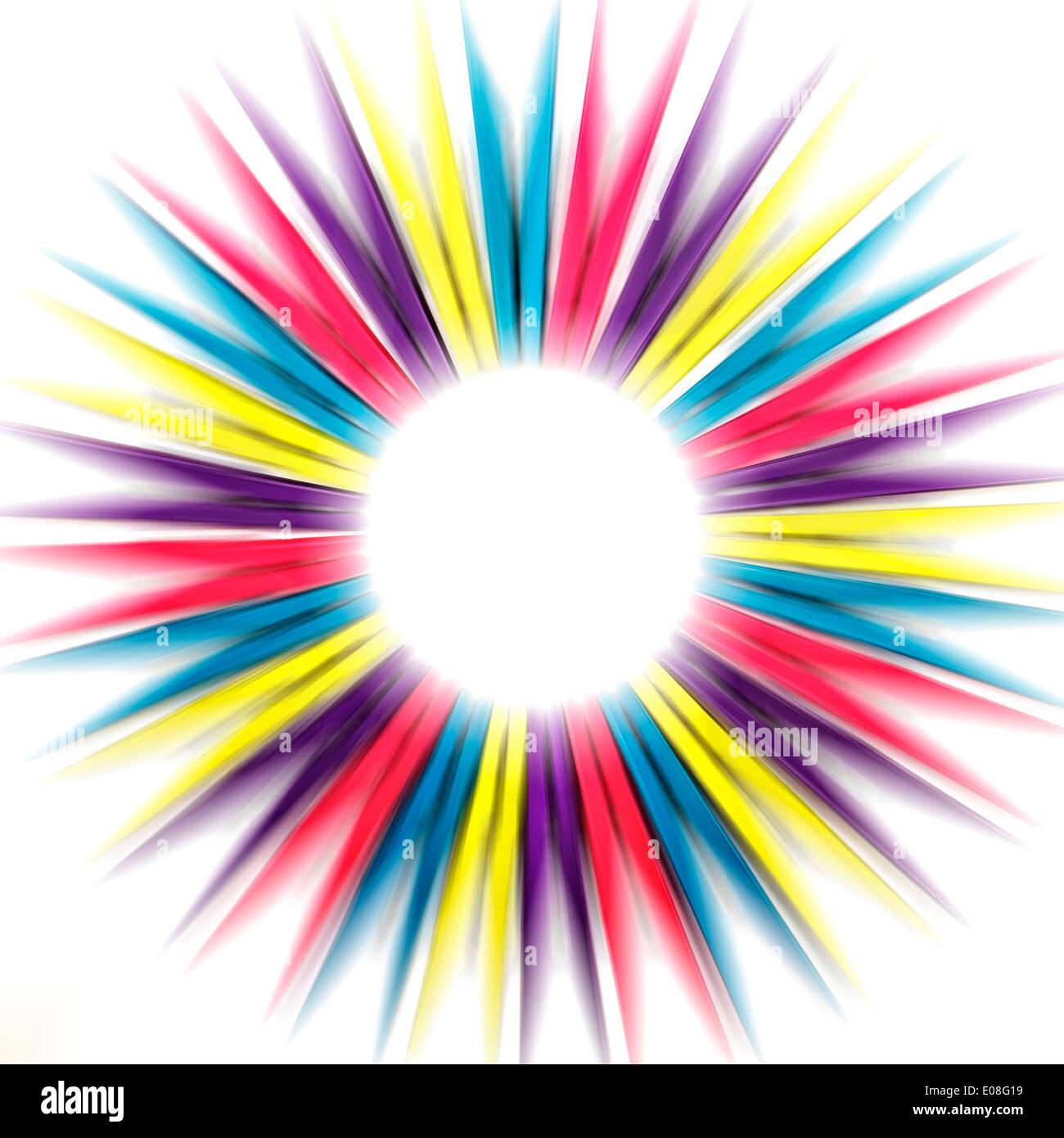 Abstract Rainbow Pegs - Stock Image
