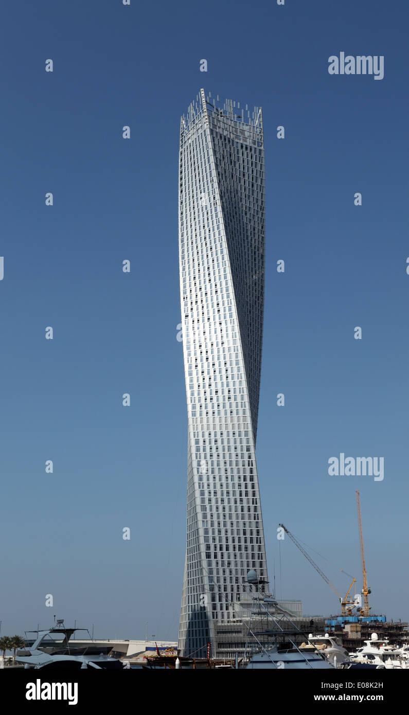 Cayan Tower, or Infinity Tower in Dubai Marina, United Arab Emirates - Stock Image