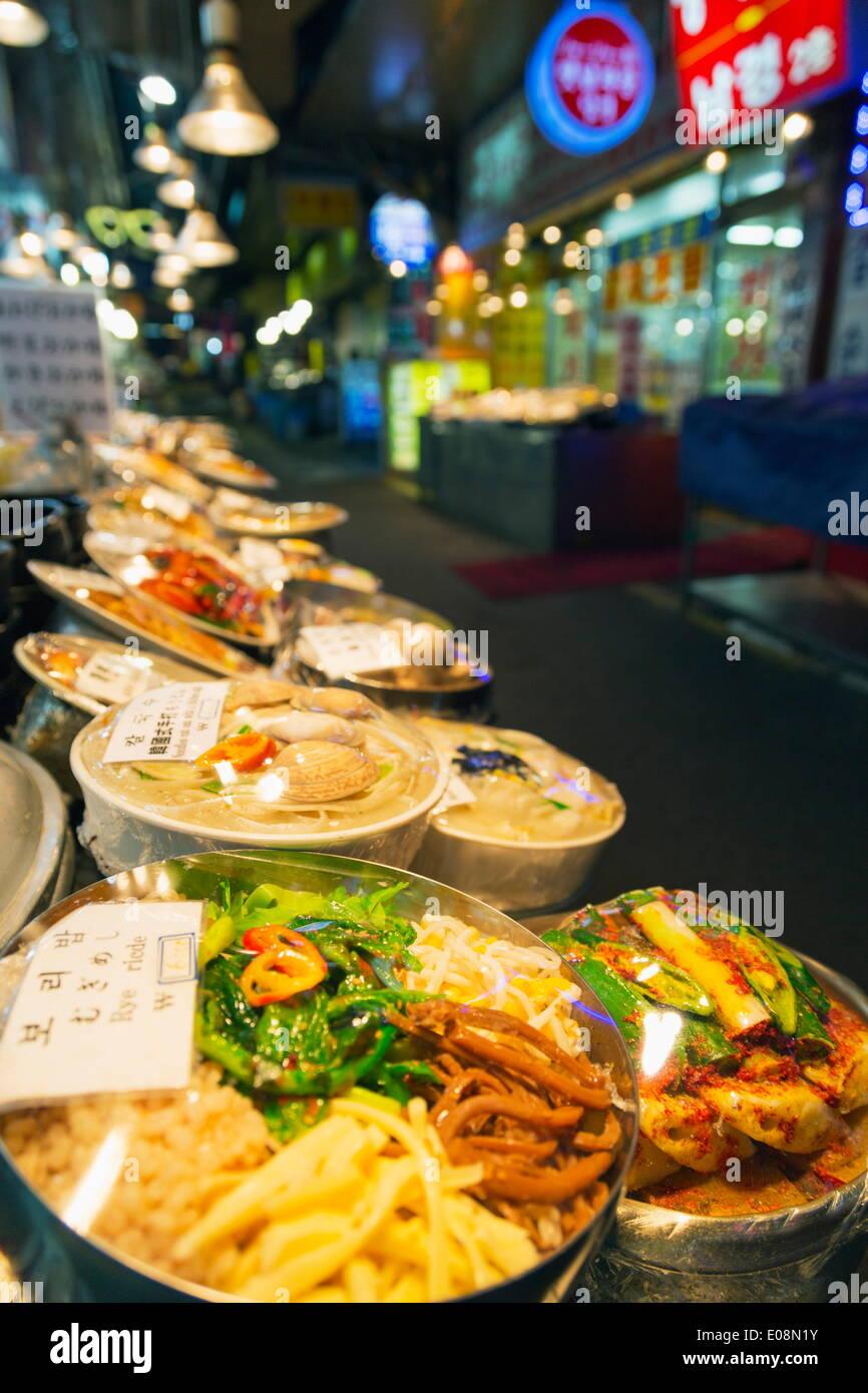 Nandaemun food market, Seoul, South Korea, Asia - Stock Image