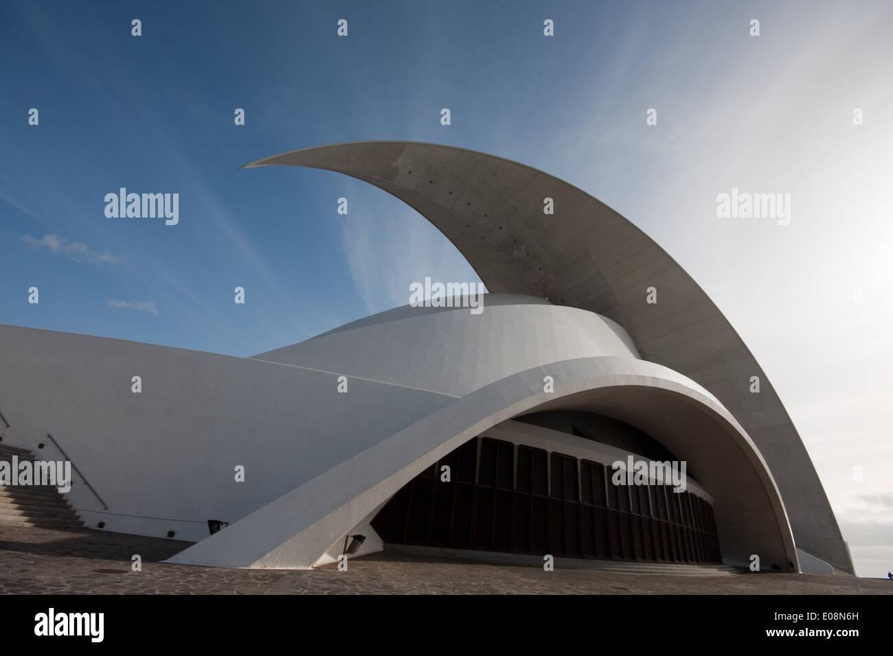 Auditorio de Tenerife, Santa Cruz de Tenerife, Tenerife, Spain - Stock Image