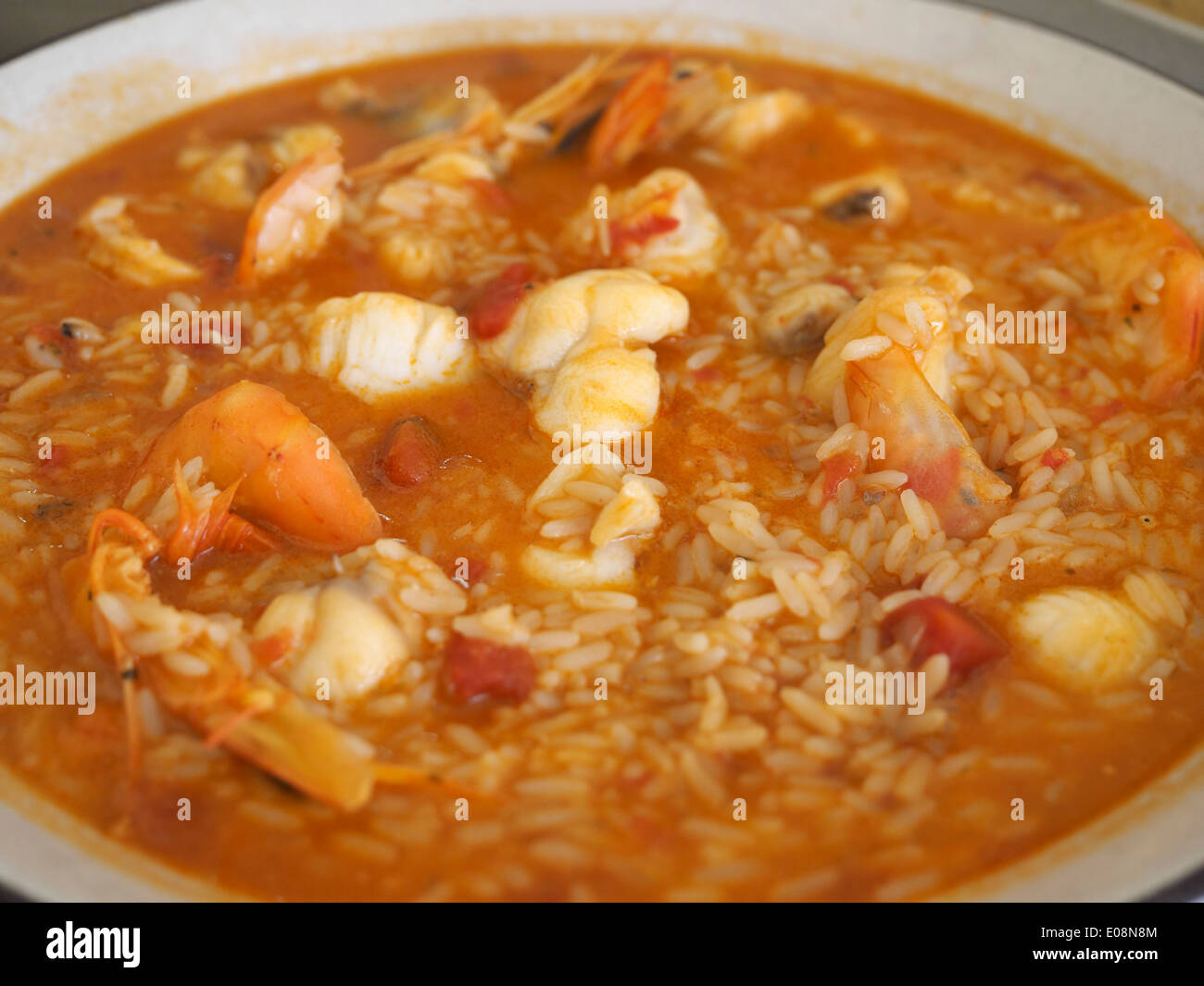 Arroz de marisco portuguese seafood dish with fish for Rice dishes with fish