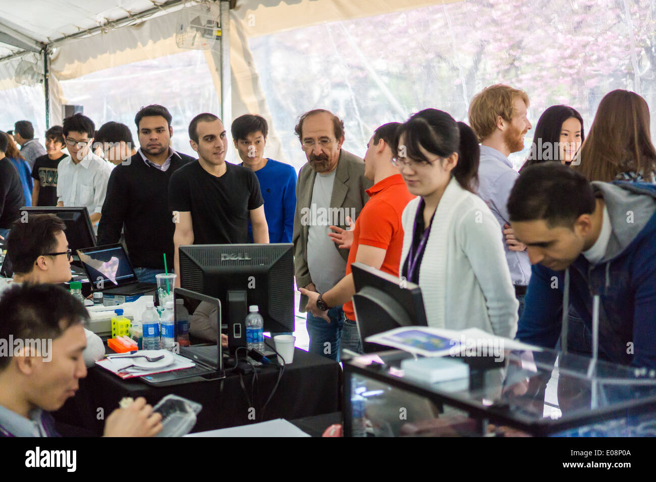 NYU-Polytechnic School of Engineering's second annual Research Expo in Brooklyn's 'Tech Triangle' in New York - Stock Image