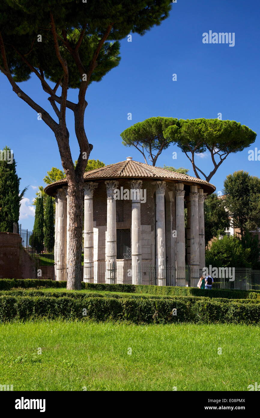 Temple of Hercules Victor, Forum Boarium, 2nd century BC, Rome, Lazio, Italy, Europe - Stock Image