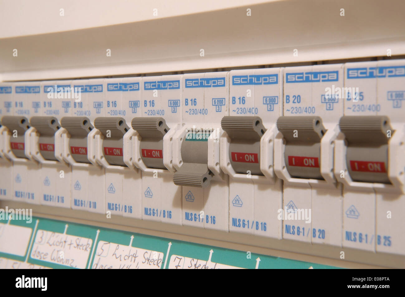 Fuse Box Household Stock Photos Images A Illustration Has Blown In Germany 07 June 2009