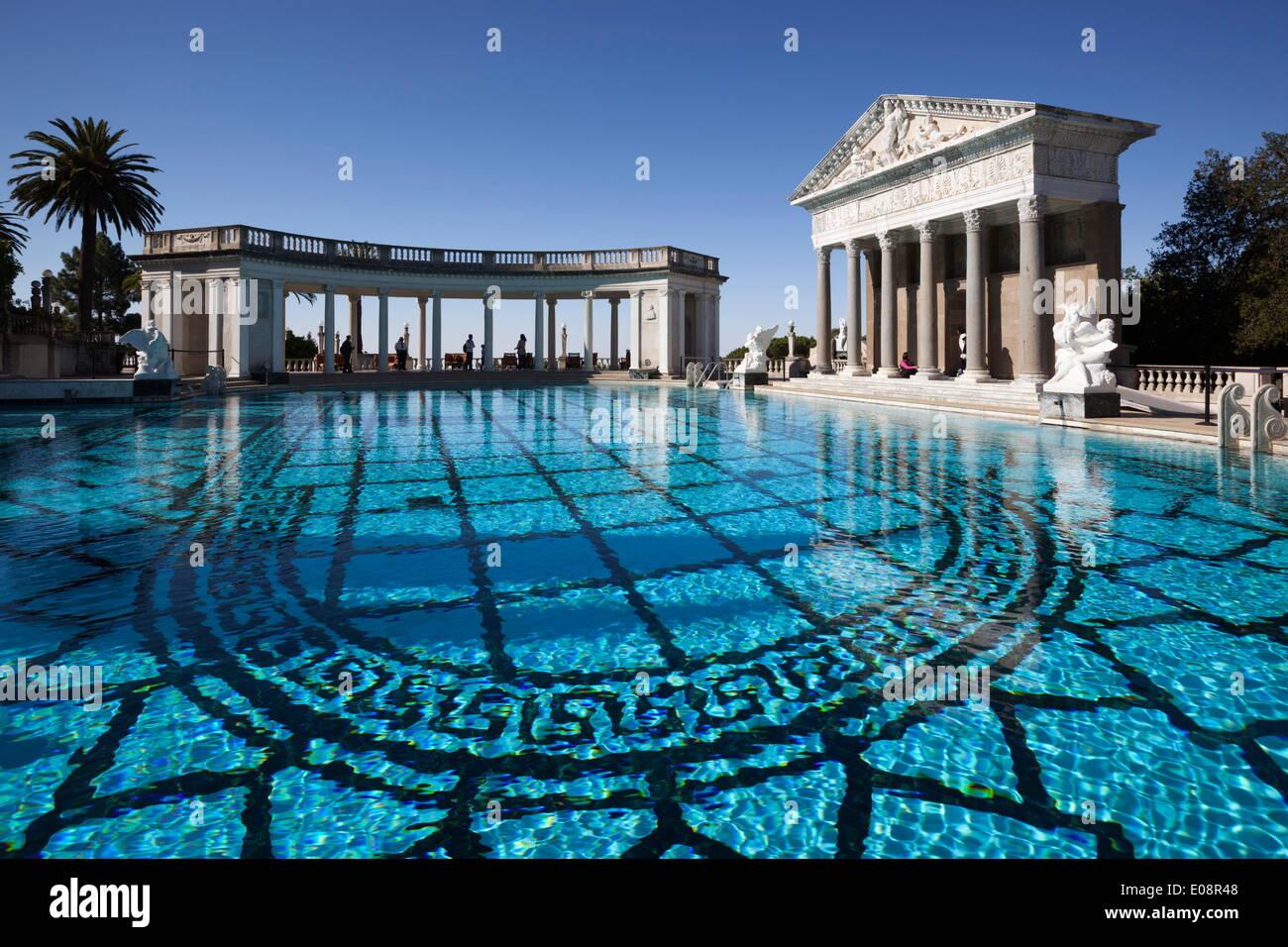 Neptune pool hearst castle san simeon san luis obispo - Hearst castle neptune pool swim auction ...