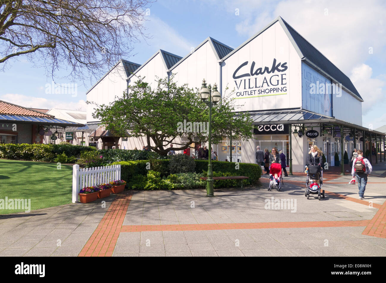 4240ad3f793 Clarks Village Outlet Shopping, Street, Somerset, England Stock ...