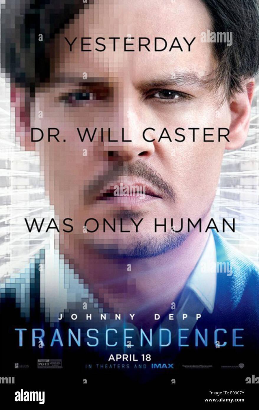 TRANSCENDENCE (POSTER) (2014) JOHNNY DEPP WALLY PFISTER (DIR) MOVIESTORE COLLECTION LTD - Stock Image