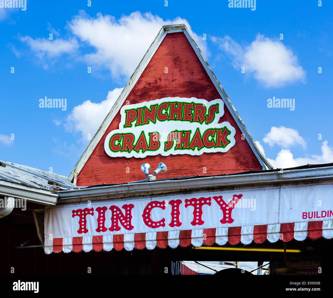 Entrance to Tin City, Naples, Gulf Coast, Florida, USA - Stock Image