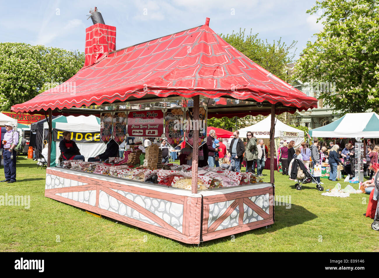 Sweet Shop in shape of House - Stock Image