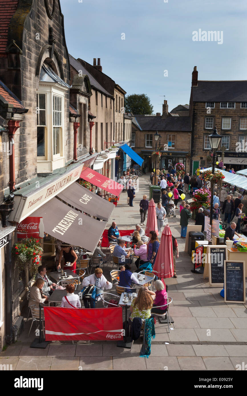 Alnwick Food festival market, Alnwick, Northumberland, UK, September 2013 - Stock Image