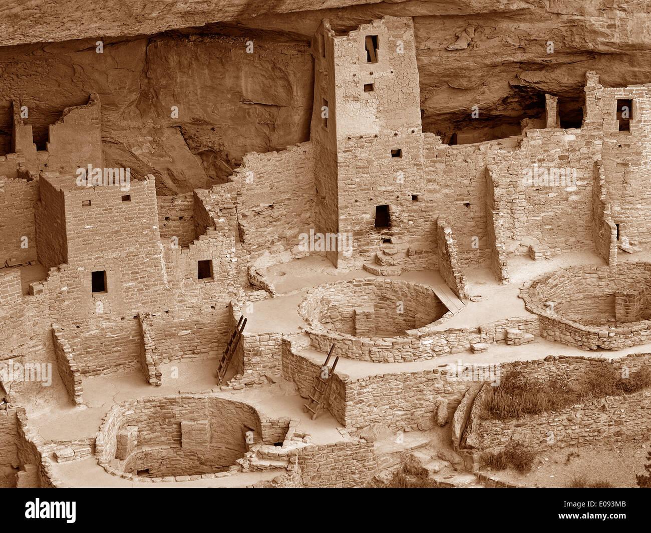 Cliff Palace at Mesa Verde National Park,Colorado - Stock Image