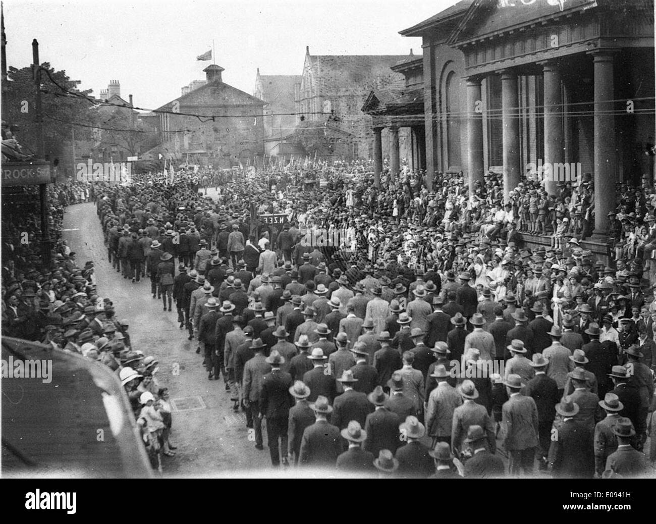 Marching into Queen's Square, c. 1931, by Sam & Ted Hoood Stock Photo
